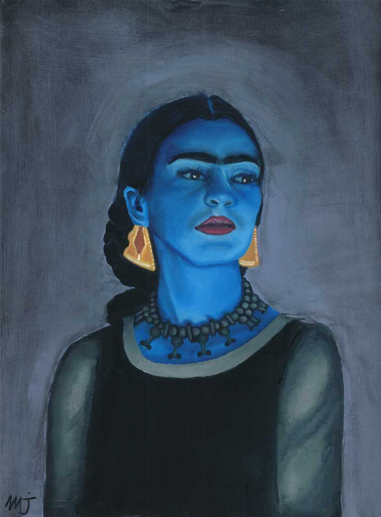 Blue Frida - Frida Kahlo, the original queen of selfies.
