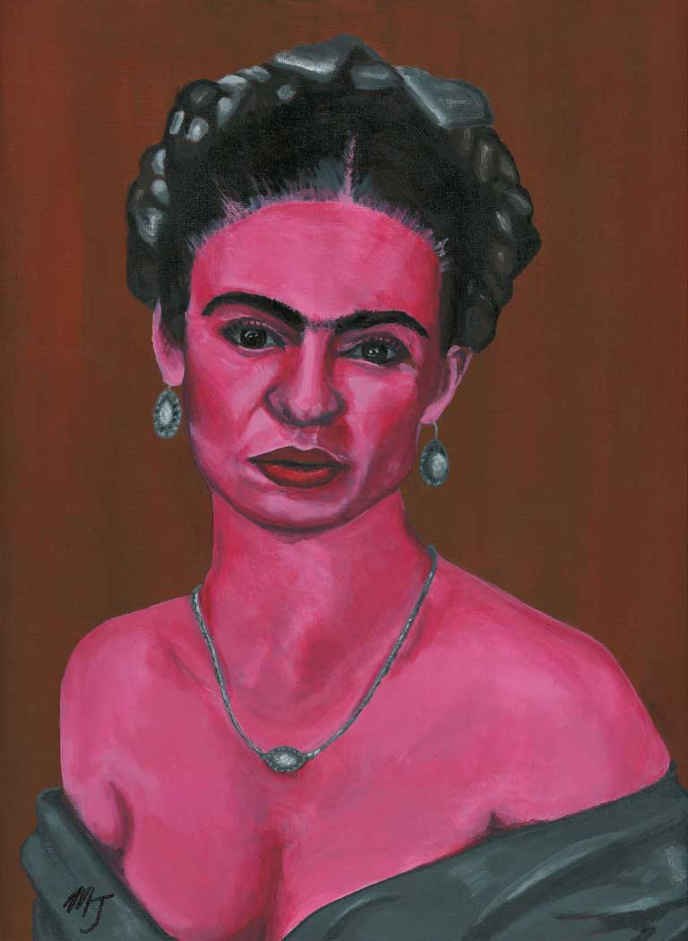 "Pink Frida - ""Feet, what do I need you for when I have wings to fly?"" -Frida Kahlo"
